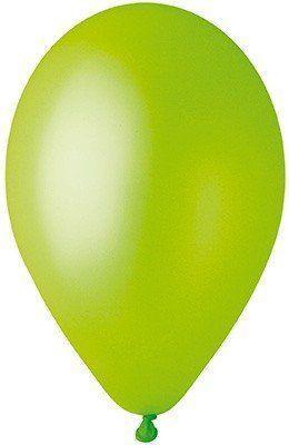 """Латексные шары круглые без рисунка 10"""" 25см Металлик светло-зеленый """"GEMAR"""" Италия"""