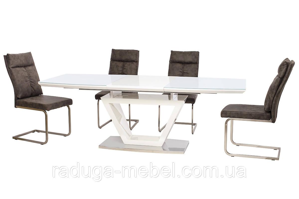 Стол кухонный обеденный белый TМ-53