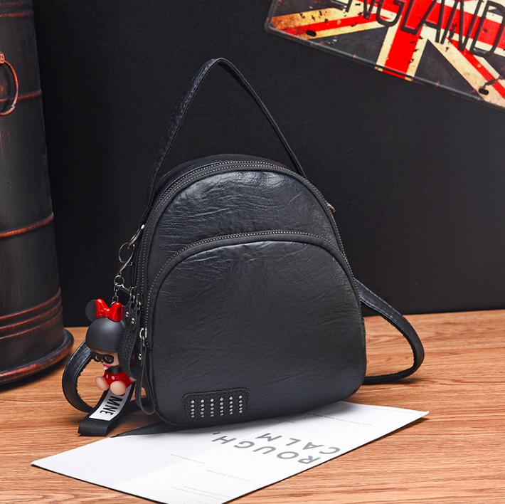 Рюкзак жіночий сумка трансформер Retro Style чорний