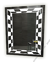 Зеркало для ванной комнаты с LED подсветкой. 900х700мм. 10ВТ, влагостойкий трансформатор, каркас пластик СД-13, фото 1