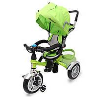 Трехколесный велосипед для детей от 1 года с родительской ручкой Maraton Trike, цвет зеленый