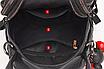 Рюкзак женский сумка трансформер Retro Style черный, фото 7