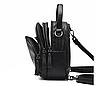 Рюкзак жіночий сумка трансформер Retro Style чорний, фото 6