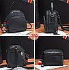 Рюкзак женский сумка трансформер Retro Style черный, фото 2