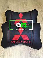 Подушка на подголовник MITSUBISHI (немецкая эко-кожа)