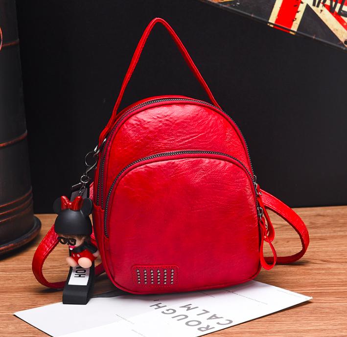 Рюкзак женский сумка трансформер Retro Style Красный