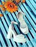 Босоножки на высоком каблуке из натуральной кожи белого цвета EPATAZH WHITE LEATHER, фото 3