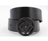 Ремень кожаный Fendi с круглой черной пряжкой