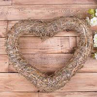 Сердце из соломы большое