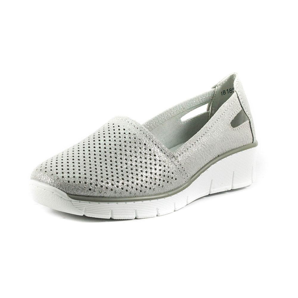 8311df6cd Мокасины женские Allshoes 18185-2K cеребрянный - SND - интернет-магазин  обуви в Харькове