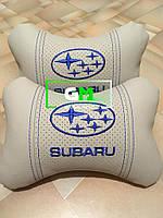 Подушка на подголовник SUBARU (немецкая эко-кожа)