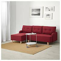 """IKEA """"BASTUBO"""", Трехместный диван-кровать,Диван BASTUBO темно-красный 804.366.68 (804.366.68)"""