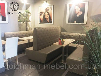 Двойные диваны для кафе