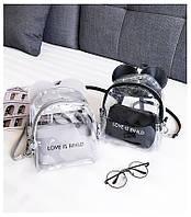Женский рюкзак Микки с ушками прозрачный, фото 1