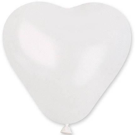 """Латексные шары сердца без рисунка 5"""" 13см пастель белое """"GEMAR"""" Италия, фото 2"""