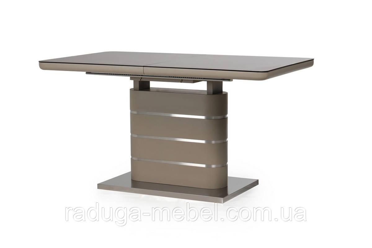 Стол кухонный обеденный черный кварц-мокко TМL-530