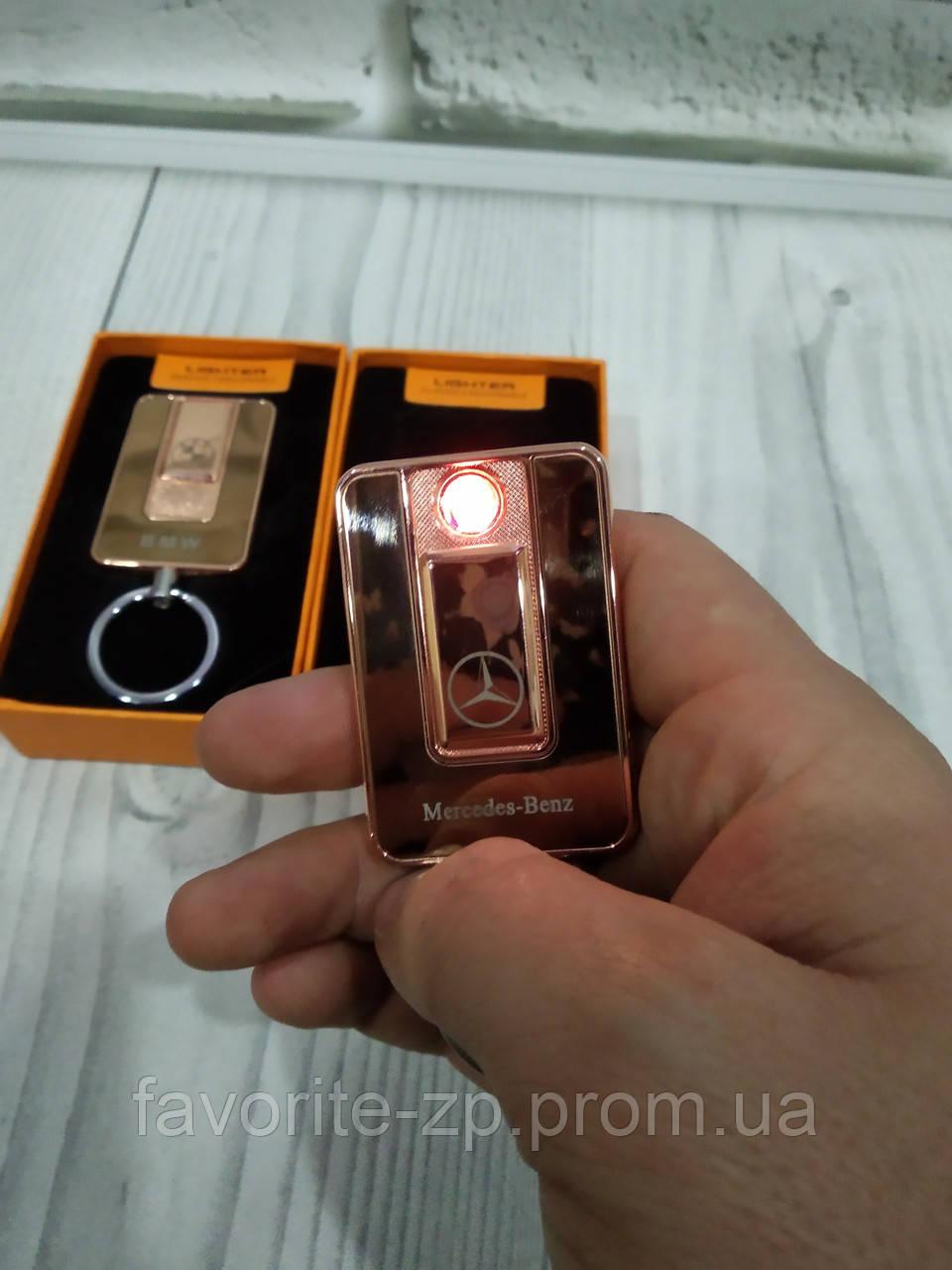 Электроимпульсная зажигалка Lighter 811 спиральная usb зажигалка юсб BMW.Mercedes Золотая