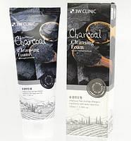 3W Clinic Charcoal Cleansing Foam Пенка для глубокого очищения пор с древесным углем