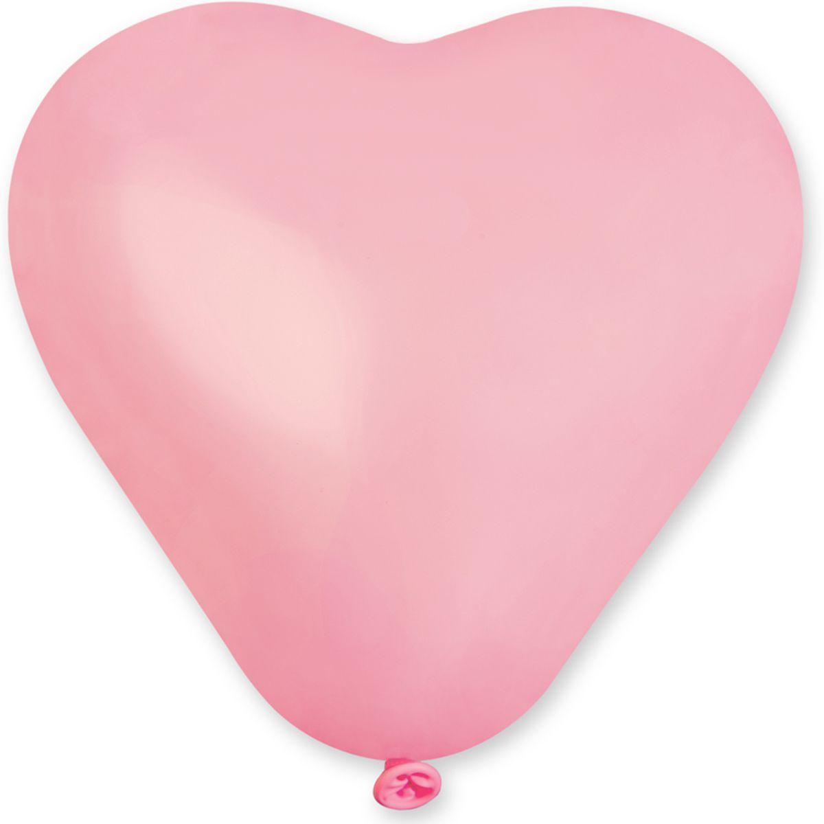 """Латексные шары сердца без рисунка 5"""" 13см пастель розовое """"GEMAR"""" Италия"""