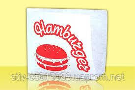 Уголок для гамбургера 140*150  крафт белый