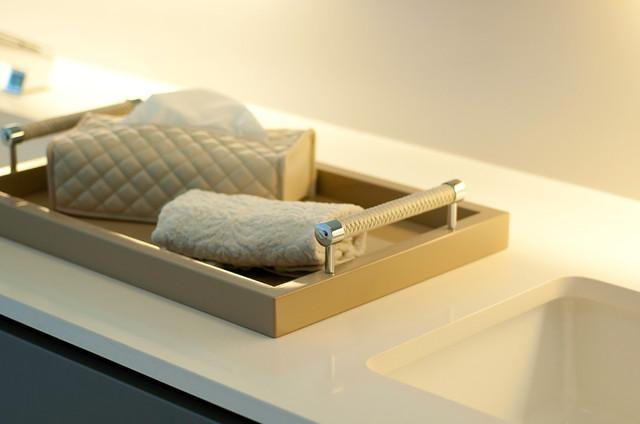 Столешница в ванную, кварц Caesarstone 9241 Almond Rocca  - Photo