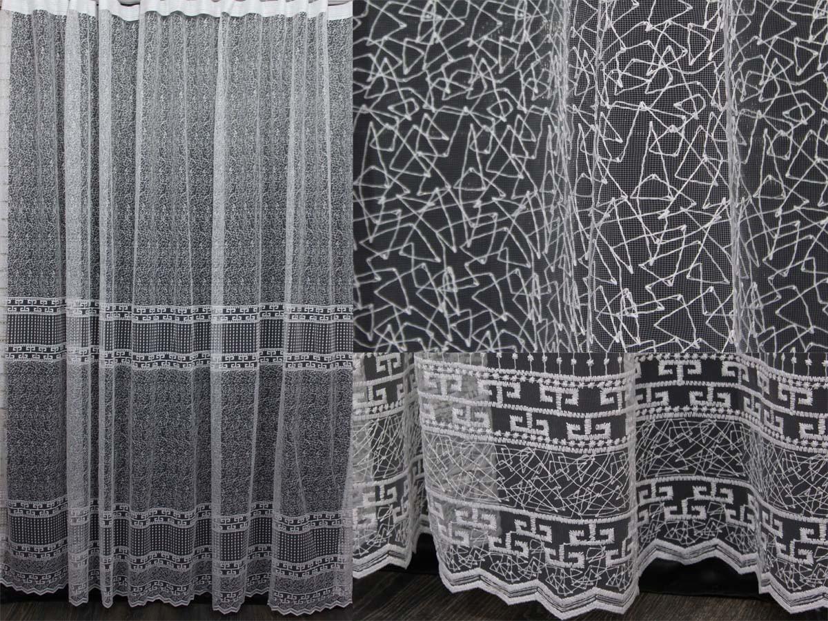 Тюль с вышивкой, фатин, цвет белый. (3х2,5м) Код 238т  40-131