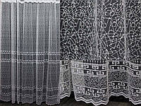 Тюль с вышивкой, фатин, цвет белый. (3х2,5м) Код 238т  40-131, фото 1