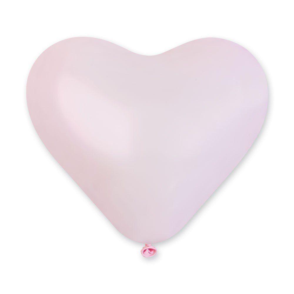 """Латексные шары сердца без рисунка 16"""" 41см Пастель розовое """"GEMAR"""" Италия"""