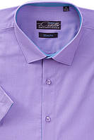 Рубашка мужская Castello короткий рукав Slim Fit