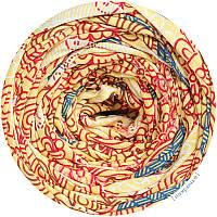 Пряжа трикотажная Belka, цвет Орнамент (100-110 м), 7-9 мм