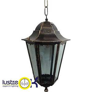 Светильник уличный подвесной Lemanso PL6105 античное золото