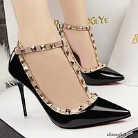 Туфли женские черные элегантные 36-41