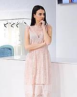 Сукня з мереживною обробкою