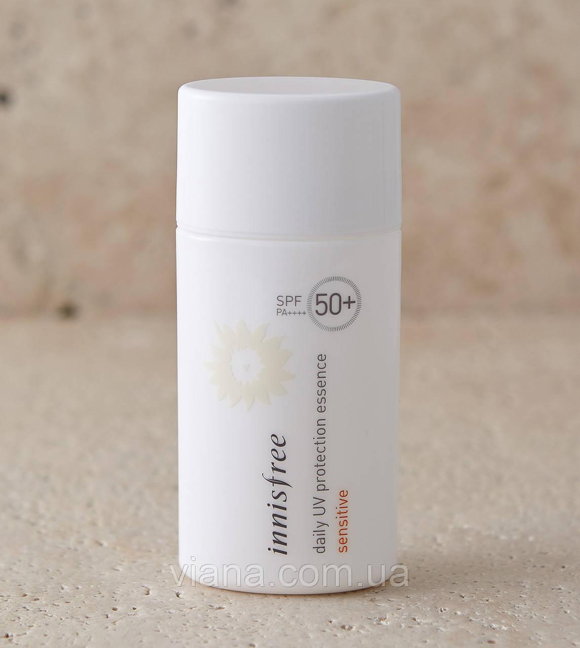 Гипоаллергенная солнцезащитная эссенция для чувствительной кожи Innisfree Daily UV Protection Essence Sensitiv