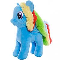 Мягкая игрушка лошадка Радуга, 33 см.