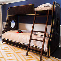 Двухъярусная кровать в мягкой обивке, двухэтажная кровать в мягкой обивке в Одессе
