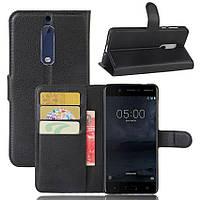 Чехол-книжка Litchie Wallet для Nokia 5 Черный
