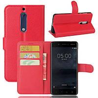 Чехол-книжка Litchie Wallet для Nokia 5 Красный