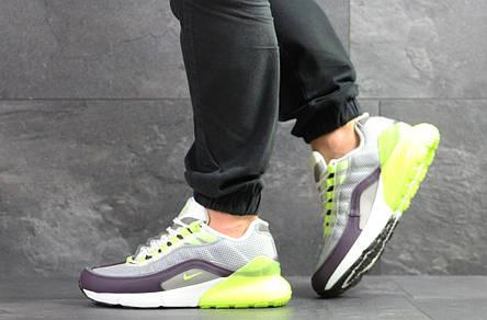 Кроссовки Nike Air Max 95 + Max 270, серые с салатовым, фото 2