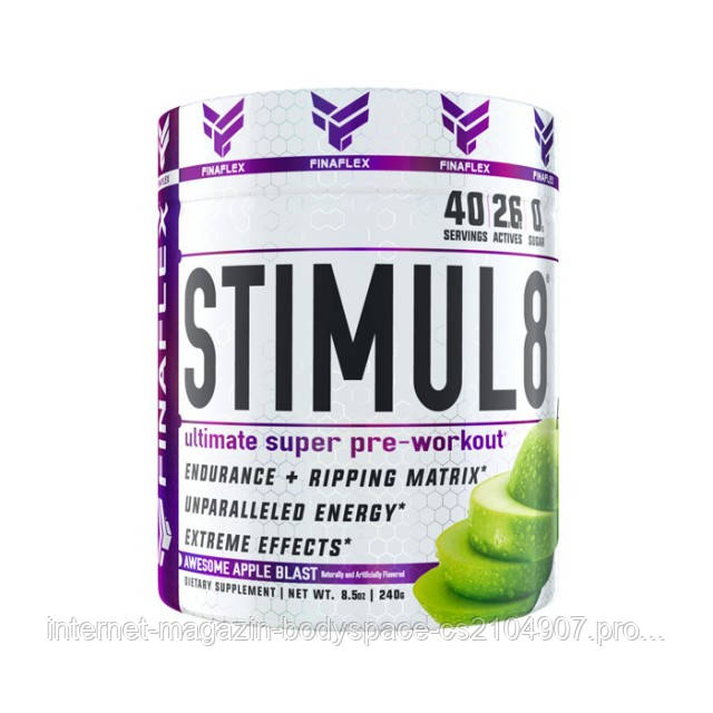 FinaFlex, Предтреник Stimul8 Ultimate Super Pre-Workout, 240 грамм