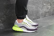 Кроссовки Nike Air Max 95 + Max 270, серые с салатовым, фото 3