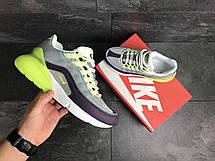 Кросівки Nike Air Max 95 + Max 270, сірі з салатовим, фото 2