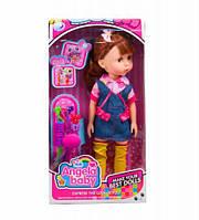 """Кукла """"Angela Baby"""" (в джинсовом комбинезоне) 1402N"""