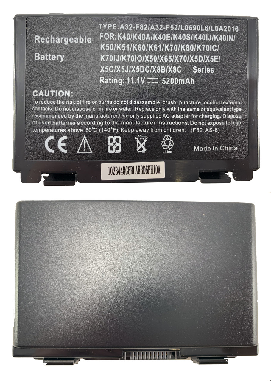 Батарея для ноутбука Asus A32-F82 (F52, F82, K40, K50, K51, K60, K61, K70, X5D, X87, X8A) 11.1V 5200mAh