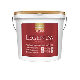 Глубокоматовая краска для стен и потолка  Legenda Kolorit 9л