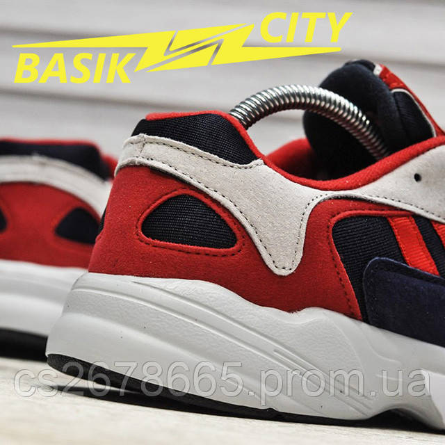 Мужские кроссовки Adidas Yung Red New фото описания 3
