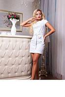 Красивое летнее платье из натуральной ткани Verona белый, фото 1