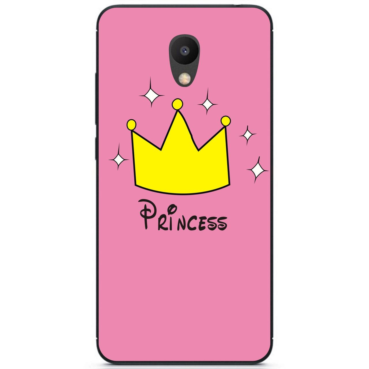 Силиконовый бампер чехол для Meizu M6 с рисунком Принцесса