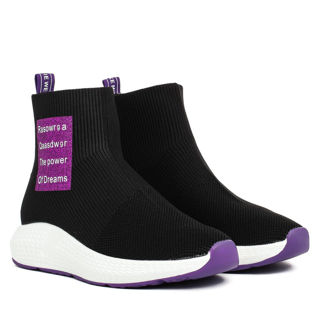 09b0e1b29fd4 Купить Кроссовки женские LIFEEXPERT (черного цвета, на белой подошве,  модные) недорого ...