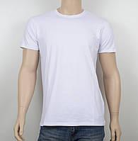 Мужская однотонная футболка 19001 белый